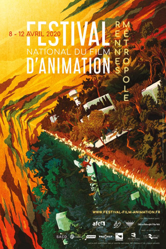 Affiche du Festival national du film d'animation